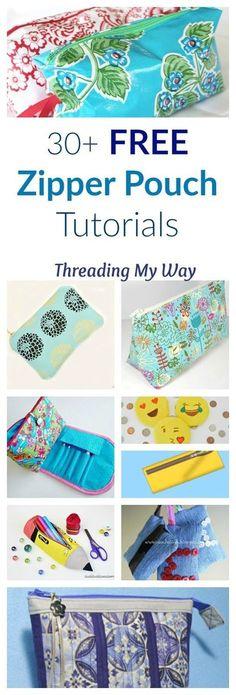 Ideas diy makeup bag pattern zipper pouch for 2019 Zipper Pouch Tutorial, Purse Tutorial, Pencil Case Tutorial, Sewing Hacks, Sewing Tutorials, Bag Tutorials, Tutorial Sewing, Sewing Tips, Sewing Men