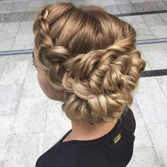 5 Stunning Braided Hairstyles - Amazing #braided #updo from #hair_by_zolotaya that would be perfect for a #wedding!