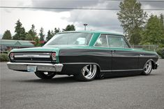 1964 CHEVROLET NOVA CUSTOM 2 DOOR HARDTOP - Rear 3/4 - 174636