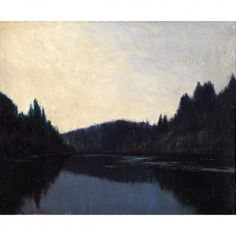 'Quiet Dawn' Frank Johnston Landscape Art, Landscape Paintings, Awesome Art, Cool Art, Group Of Seven Paintings, Tom Thomson, Emily Carr, Sky Painting, Columbia River