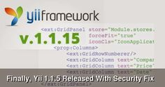 Finally, #Yii 1.1.5 Released With Security Fix #php #web #development #programming