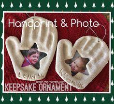photo handprint keepsake