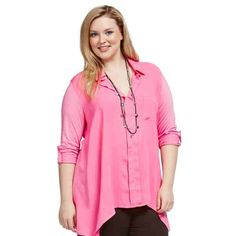 PRE-ORDER - Knit Woven Shirt (PINK) $59.95 http://www.curvyclothing.com.au/index.php?route=product/product&path=95_104&product_id=6837&limit=75