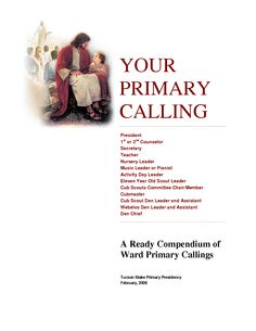 Primary Callings Descriptions and Expectations