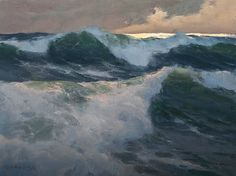 """""""Running High,"""" by Donald Demers, oil, 9 x 12 in."""
