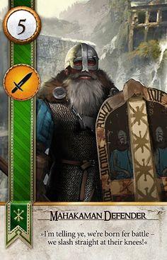 Mahakaman Defender (Gwent Card) - The Witcher 3: Wild Hunt