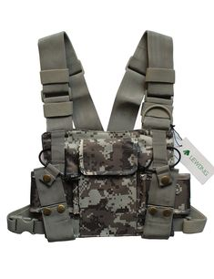 Lewong Universal Hands Free Chest Harness Bag Holsterfor Two Way Radio Rescue Essentials Camouflage *** Find out more about the great product at the image link. (This is an affiliate link) Climbing Harness, Two Way Radio, Sling Backpack, Camouflage, Hunting, Image Link, Survival, Essentials, Pouch