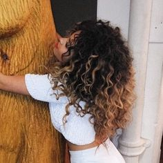 Ella Eyre Human Hair Ombre Curly Lace Front Wig by Shylox on Etsy
