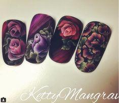 Ногтеманияк   Маникюр, ногти, идеи дизайна Hair And Nails, My Nails, Nail Art Wheel, Fork Art, One Stroke Nails, Finger, Flower Nail Art, Accent Nails, Nail Arts