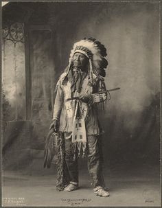 Outstanding Portrait of the great Chief American Horse, Sioux