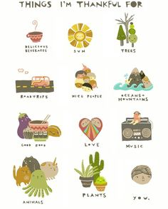 Things I'm Thankful For Print 8x10 by laurageorge on Etsy, $20.00