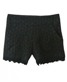 Really obsessed with lace shorts this season! - Black High Waist Lace Shorts - SheInside.com #womensfashion #summer