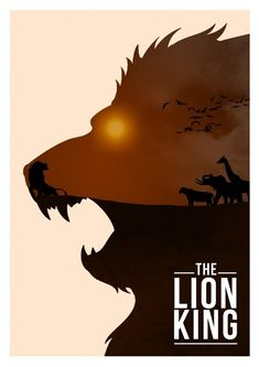 The Lion King - Minimalist Disney movie posters by Rowan Stocks-Moore