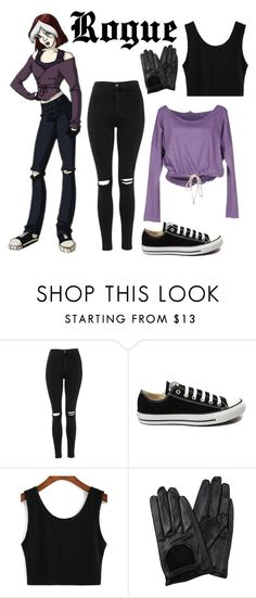 """""""X-men evolution"""" by bebe6121985 on Polyvore featuring moda, Topshop, Converse, Chicnova Fashion, Clark Jeans, women's clothing, women, female, woman i misses"""