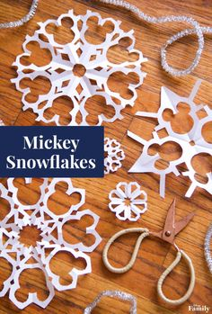 Make Your Home a Winter Wonderland With These Mickey Snowflakes | Disney Family