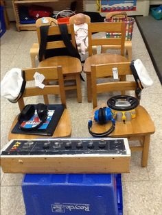 this brings back memories... we use to do this as kids... line up chairs and pretend we were in a car, bus, or Airplane