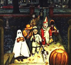 """rogerwilkerson: """" Trick or Treaters, detail from October 1952 Coronet Magazine cover. """""""