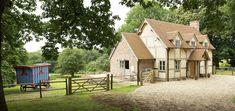 Cottage Case Study - Lower Marston Flat Pack Homes, Border Oak, Oak Framed Buildings, Oak Frame House, Self Build Houses, Modern Rustic Homes, Timber Frame Homes, Country Style Homes, Country Houses
