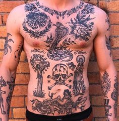 Torso Tattoos, Stomach Tattoos, Dope Tattoos, Black Tattoos, Body Art Tattoos, Sleeve Tattoos, Tattoos For Guys, Tatoos, Chest Piece Tattoos