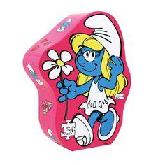 Smurfin *** Een kleurrijke puzzel van Smurfin in een mooie, stevige opbergdoos. De puzzel is gemaakt van stevig karton, met puzzelstukjes in een handzaam formaat voor kleine handjes. De puzzel bestaat uit 36 stukjes. Mooi om cadeau te geven!
