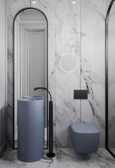 10 of the Most Exciting Bathroom Design Trends for 2019 - AVR. - 10 of the Most Exciting Bathroom Design Trends for 2019 Emily Henderson bathroom trends 2019 … Ada Bathroom, Bathroom Toilets, White Bathroom, Modern Bathroom, Small Bathroom, Bathroom Marble, Bathroom Vanities, Bathroom Mirrors, Bathroom Cabinets