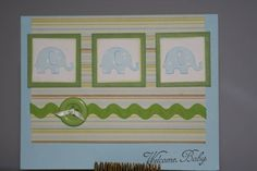 Baby elephants by WendyRN - Cards and Paper Crafts at Splitcoaststampers