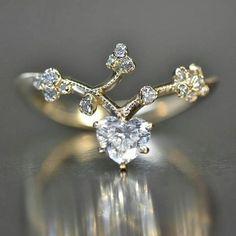 Original Kataoka @kataoka_jewelry Heart-Shaped Diamond Ring.