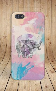 Geometric Pastel Elephant Case for iPhone 5 iPhone