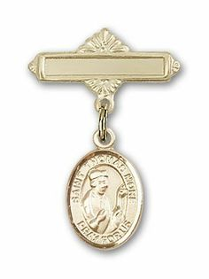 Gold Filled Baby Badge with St. Thomas More Charm and Polished Badge Pin St. Thomas More is the Patron Saint of Lawyers/Statesmen Needzo Religious. $50.50. Christian Patron Saint Medal Pendant Necklace. Made in the USA - Lifetime guarantee against tarnish. 1 X 5/8 inch Polished Badge Pin Patron Saints - T St. Thomas More is the Patron Saint of Lawyers/Statesmen. Patron of Lawyers/Statesmen. St. Thomas More