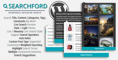 Searchford WordPress Advanced Search by archtheme Searchford WordPress Advanced Search Improve your website¡¯s in-site search results immediately with this plugin. Sort results by relevance instead of date, and search for the term in the content, categories, tags, comments, and au