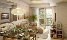 Love this living room/dinner room idea