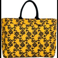 Shop here- $1 of every $5 goes to our charity! Arabella Gold Carryall Tote