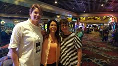 Hanging out with Lisa Grossman and Michelle Pescosolido at No Excuses Summit 6 in 2015