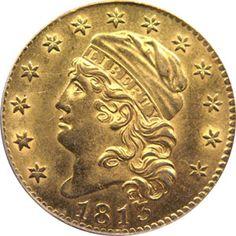 1813 five dollar gold