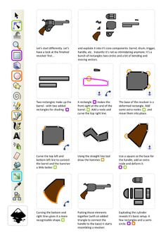 2D Game Art for Programmers: Shooting and blasting - making a revolver