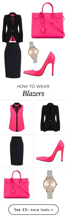 """""""Trending Item 03/17/16- Blazer"""" by karamassey86 on Polyvore featuring Yves Saint Laurent, Alexander McQueen, Givenchy and Olivia Burton"""
