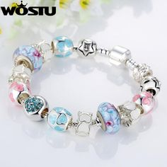 Brand Name: WOSTU - Item Type: Bracelets - Fine or Fashion: Fashion - Material: Crystal - Setting Type: Pave Setting - Shape\pattern: Heart - Style: Cute/Romantic - Bracelets Type: Charm Bracelets - Model Number: FB1871 - Chain Type: Snake Chain - Gender: Women - Clasp Type: Pearl-clasps - Metals Type: None - Compatibility: - - Function: - - Gift For: Friend, GirlFriend, Wife, Mother - Environmental: Lead,Nickel Free , Allergy free, Never Hurt your hand - Wearing Occasion: Wedding…