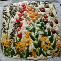 Vegetable Pizza, Vegetables, Bread Baking, Cooking, Sweet, Food, Baking, Kitchen, Candy
