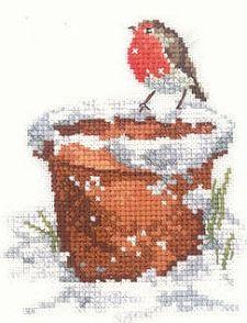 Garden Friend - Winter Robin Cross Stitch Kit SCGF1040