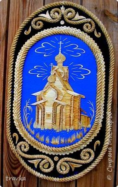 Painting mural drawing Application Weave Holy Russia Straw Cloth