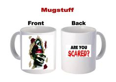 Are You Scared Scary Clown Picture Mug by Mugstuff on Etsy