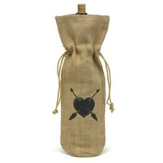 Le Prise Heart and Arrow Burlap Wine Bag Groomsmen Survival Kits, Gifts For Women, Gifts For Her, Paper Lantern Lights, Wine Bucket, Ring Bearer Pillows, Lace Ring, Sand Ceremony, Party Gift Bags