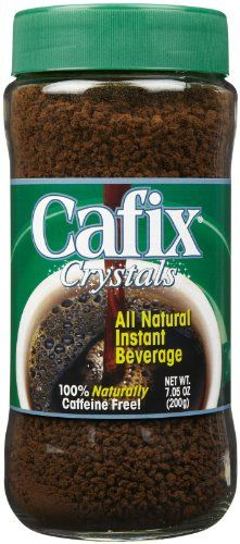 Cafix Coffee Substitute No Caffeine Crystals Pack), Product Features Naturally Caffeine Free! Product Description PACK of THREE: Cafix, All Natural Instant Beverage Crystals, Caffeine Free, oz g) Enjoy Cafix all natural instant beverage crystals for . Coffee Substitute, Coffee Store, Instant Coffee, Coffee Drinks, Caffeine, Cravings, Beverages, Food And Drink, Jar