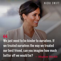 """""""We just need to be kinder to ourselves. Good Thoughts, Positive Thoughts, Qoutes, Life Quotes, Body Posi, Celebrity Quotes, Serious Quotes, Appreciation Quotes, Skirt Suits"""