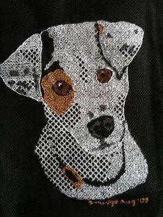 Black Work Jack Russell Terrier