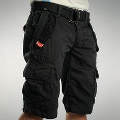 SUPERDRY MENS CARGO SHORTS IN BLACK SIZE S RRP £54.99 | eBay