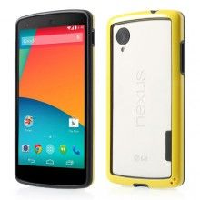 Bumper Nexus 5 Ultra-slim Backless - Amarillo  € 6,99