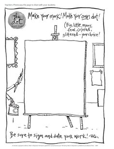 5 Worksheets Drawing Bigger Shapes Classroom Guide The Dot and Ish by Peter H Reynolds √ Worksheets Drawing Bigger Shapes . Unterrichtsmaterialien · Grundschule · Lehrerbüro in Library Lessons, Art Lessons, Drawing Lessons, The Dot Book, Art Handouts, International Dot Day, Album Jeunesse, Art Worksheets, Grammar Worksheets