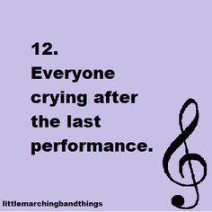 Thats the saddest moment of every season. Winter Guard, and Color Guard. It's even more sadder when you have to say goodbye to your favorite Seniors! Band Mom, Band Nerd, Love Band, Marching Band Quotes, Marching Band Problems, Flute Problems, Music Humor, Music Memes, Funny Music