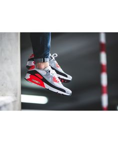 info for 63ee2 3b4ec Cheap Nike Air Max 90 Ultra 2.0 Flyknit White Bright Crimson Black Wolf Grey  Mens